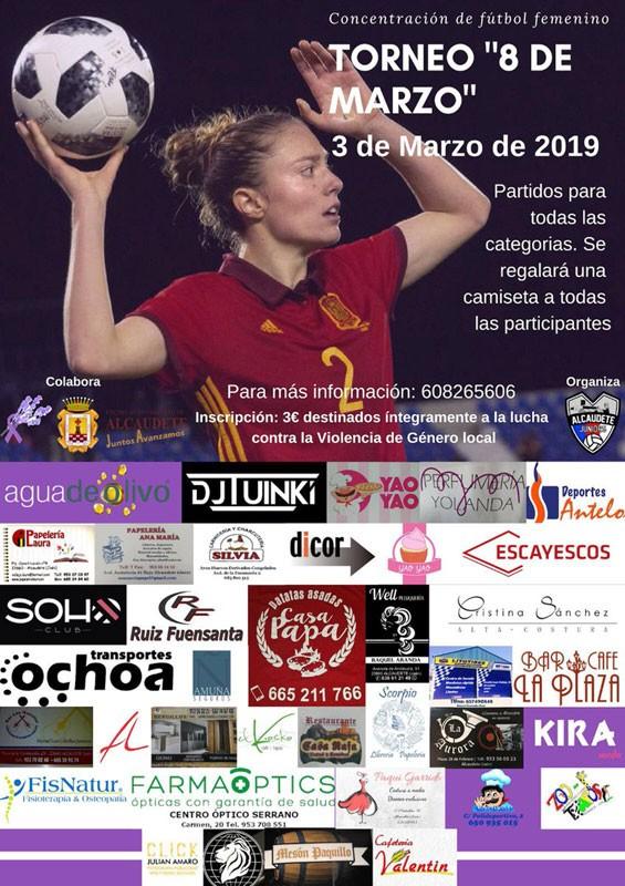 Cartel anunciador del torneo de fútbol en Alcaudete