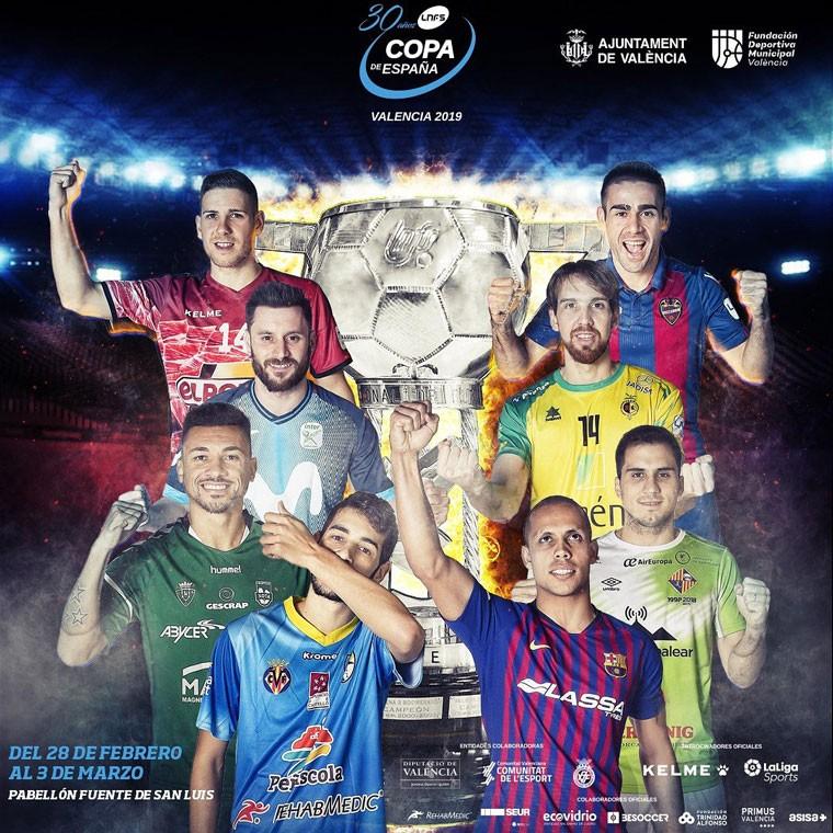 Valencia acogerá la Copa de España de fútbol sala 2019.