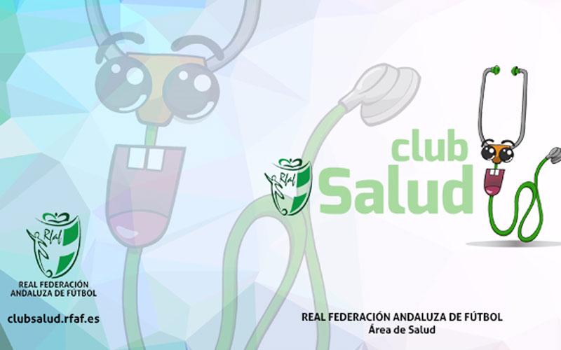 Cartel anunciador del Club Salud RFAF en Jaén