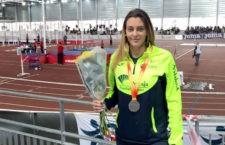 El Unicaja logra dos platas en el Nacional sub'23 en pista cubierta