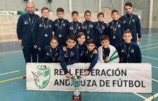 La selección jiennense se llevó el bronce en el torneo regional. Foto. RFAF.