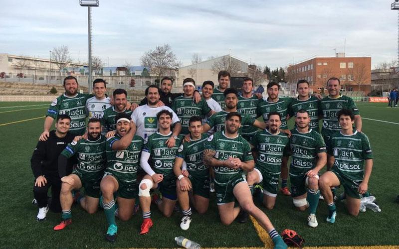 Formación del Jaén Rugby tras el partido