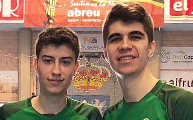 Karim y Antonio Pérez, jugadores del Jaén FS
