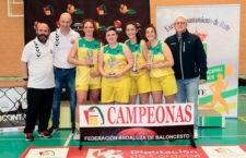 Las linarenses, campeonas autonómicas de 3x3 de baloncesto U18. Foto: FAB Jaén.