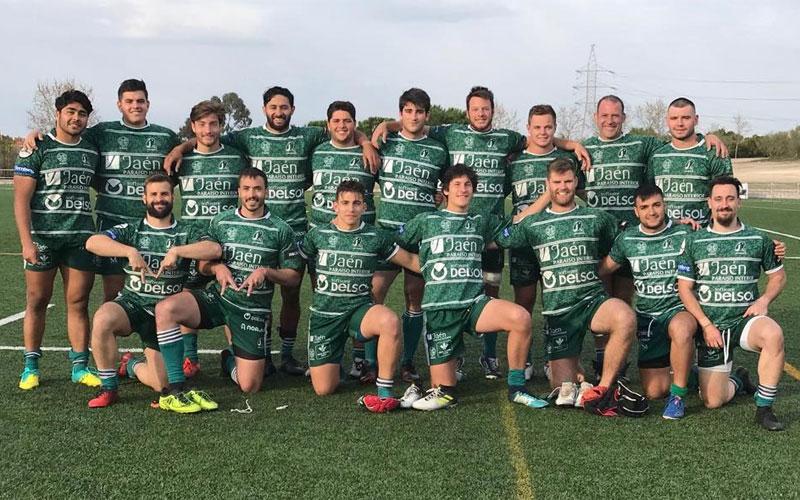 Formación de jugadores de Jaén Rugby