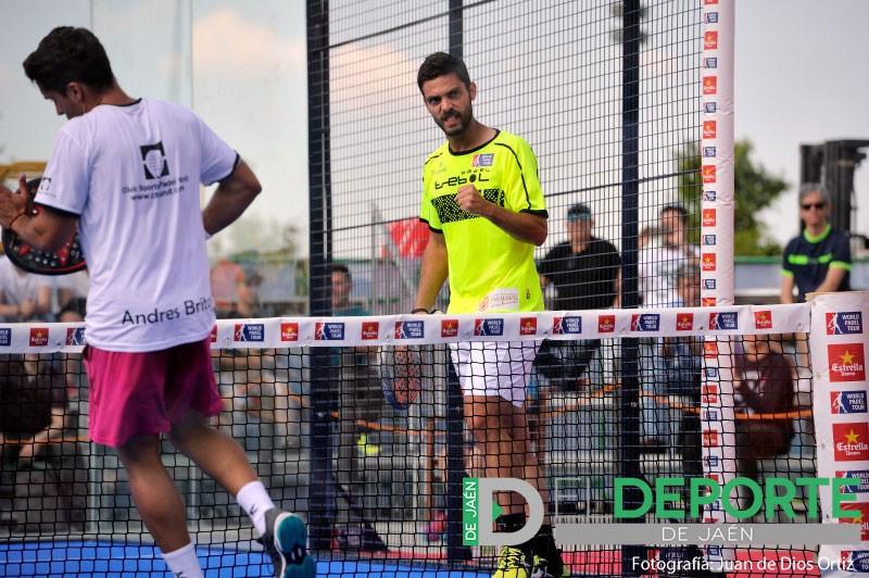 Antonio Luque celebra un punto en el Jaén Open 2018