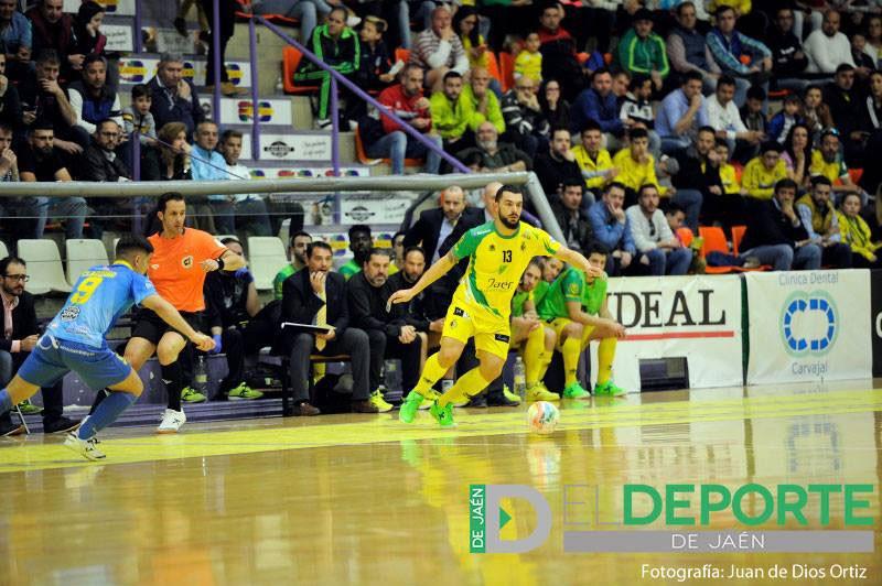 Giasson en un partido con el Jaén FS