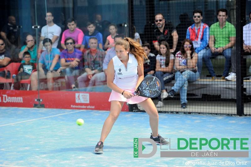 Marta Porras durante un partido del Jaén Open de World Padel Tour