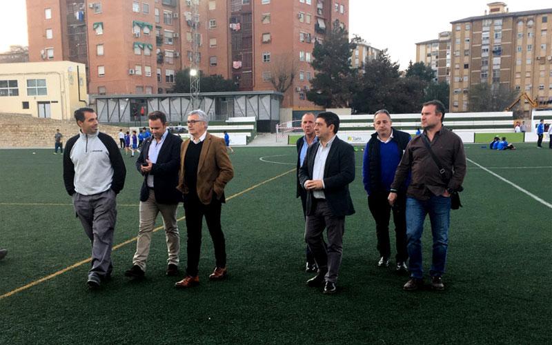 Autoridades y responsables de la obra visitan las obras del Sebastián Barajas