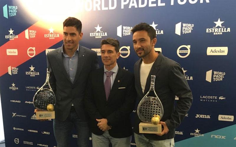 José María Álvarez junto a Maxi Sánchez y Sanyo Gutiérrez