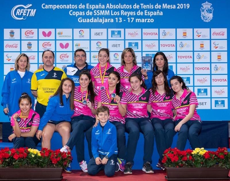 El equipo del Tecnigen Linares tras la final