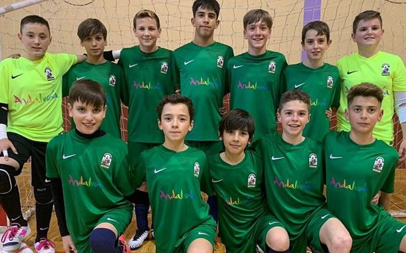 jugadores de la selección andaluza alevín de fútbol sala