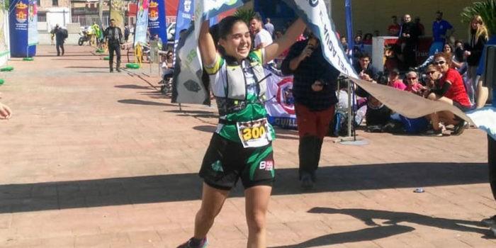 Triunfo de la atleta alcalaína. Foto: Club Sierra Sur Jaén.