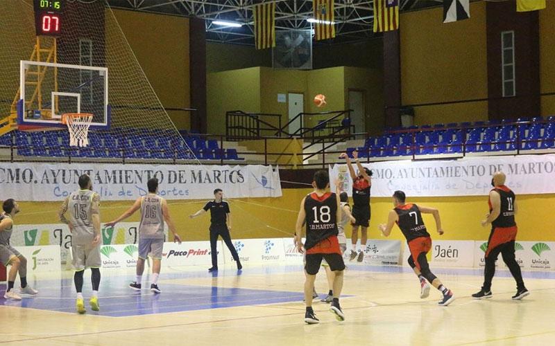 Jugadores del CB Martos durante un partido de Liga EBA