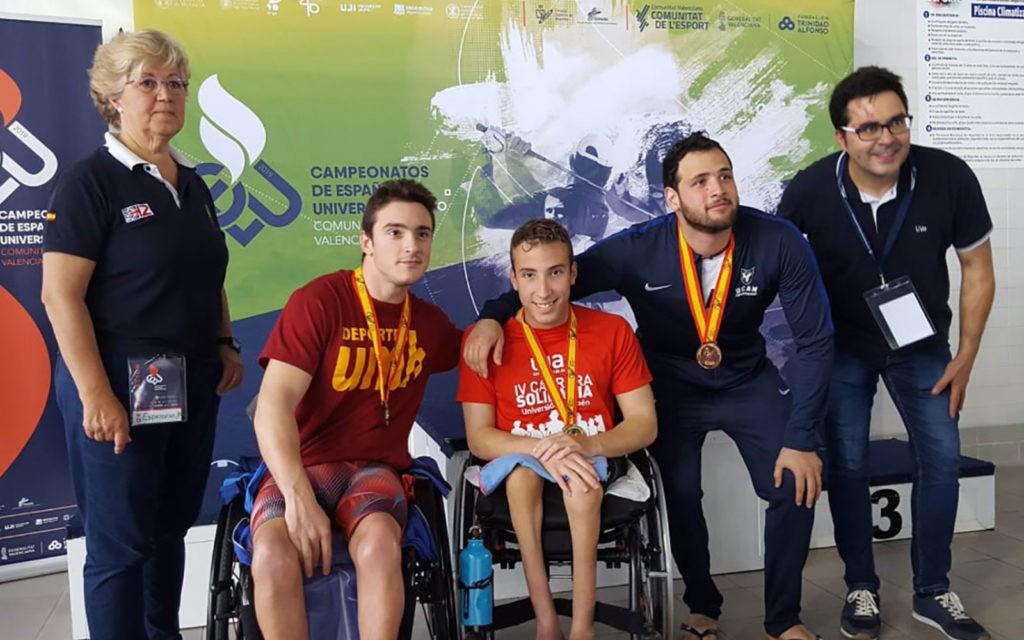 Podium del Campeonato de España Universitario de Natación 2019