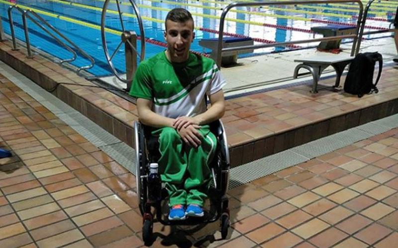 Fernando Moya en una piscina de competición