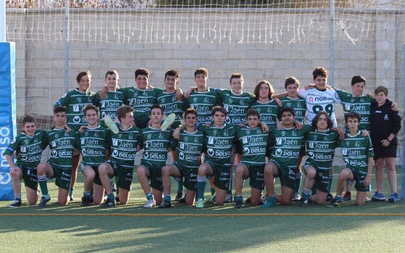 Formación del equipo sub-14 de Jaén Rugby