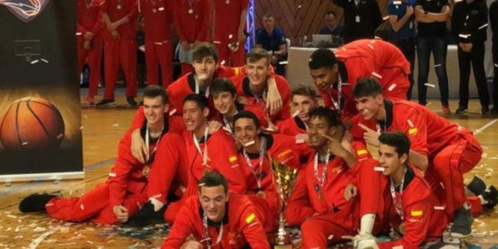 El joven iliturgitano, campeón con el combinado nacional. Foto: FAB Jaén.