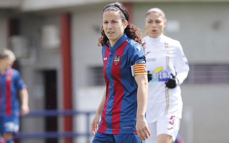 María Alharilla durante un partido con el Levante UD