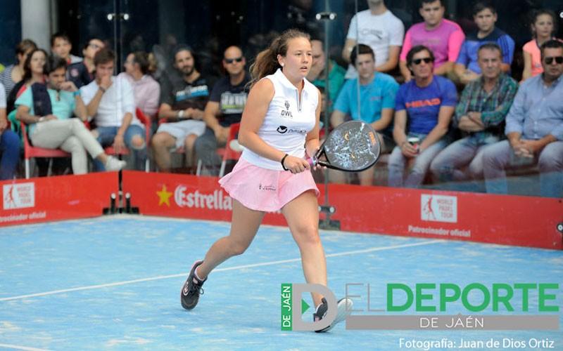 Marta Porras en un partido de World Padel Tour