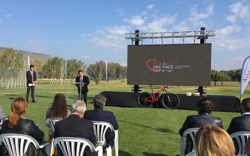 Acto de presentación de la Andalucía BIke Race en Linares