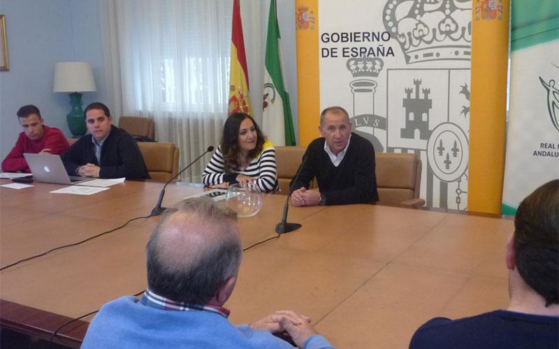 Autoridades durante el sorteo de la Copa Subdelegada de Jaén