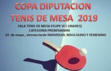 Más de 150 inscritos en la Copa Diputación Tenis de Mesa Prebenjamín e Infantil