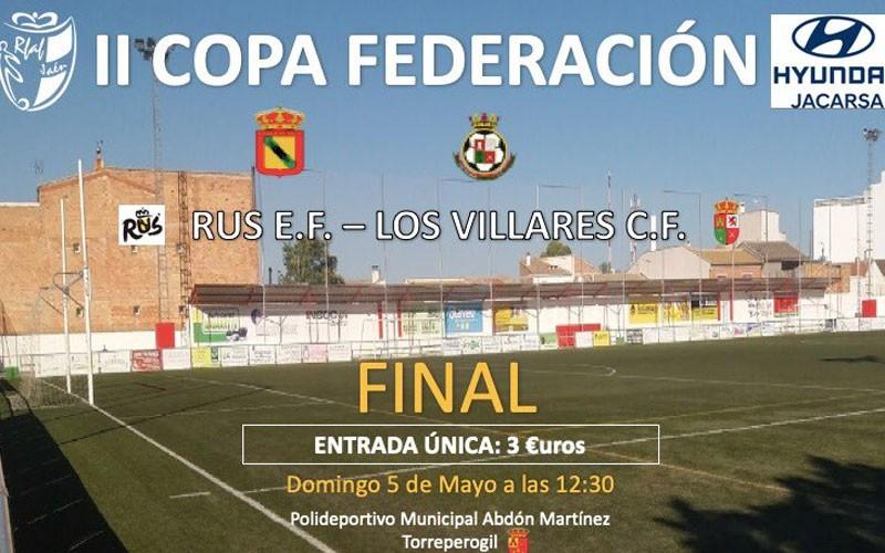 Cartel anunciador de la final de la II Copa Federación