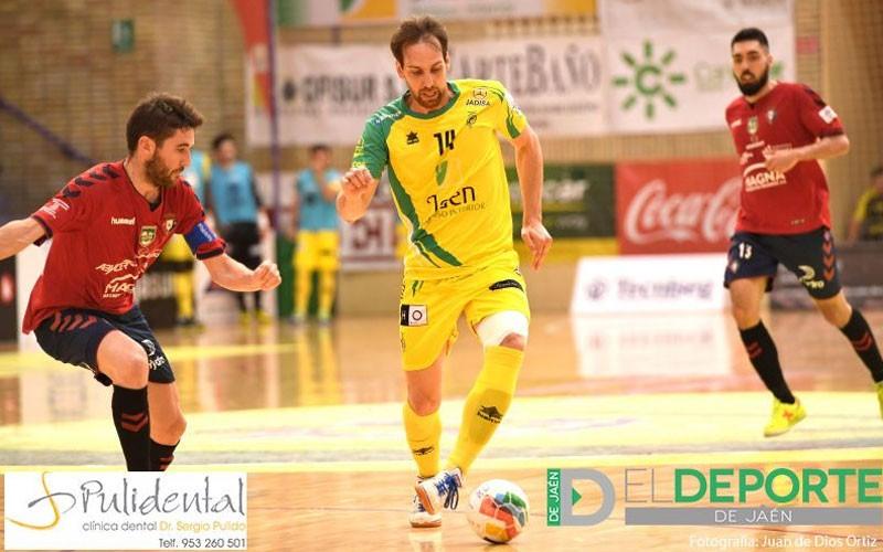Alan Brandi en el partido entre Jaén FS y Osasuna Magna