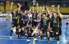 El filial amarillo se hizo con el título de campeón. Foto: Jaén FS.