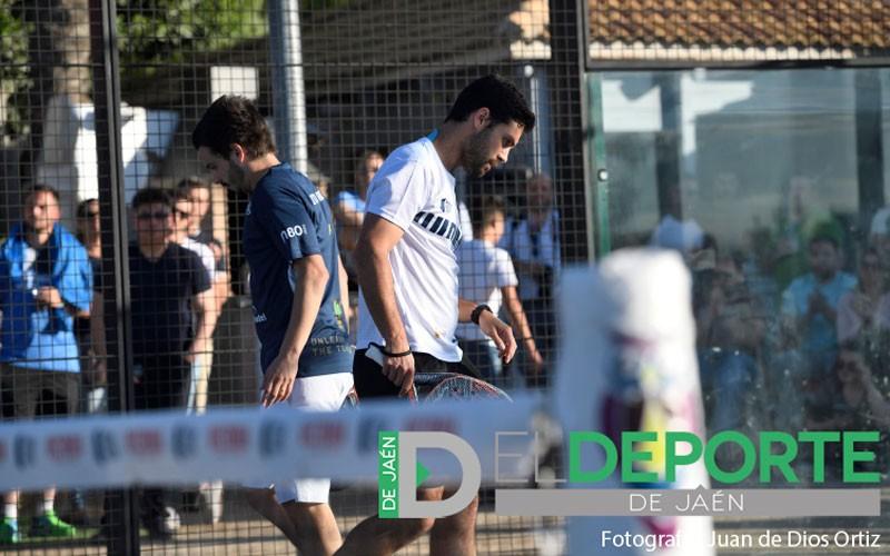 Antonio Luque y Diogo Rocha durante un partido del Jaén Open 2019
