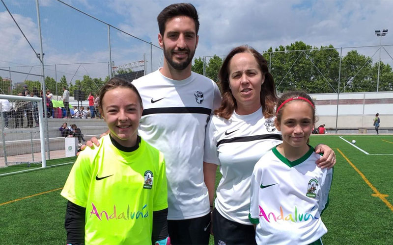 Miembros de la representación jiennense en la selección andaluza
