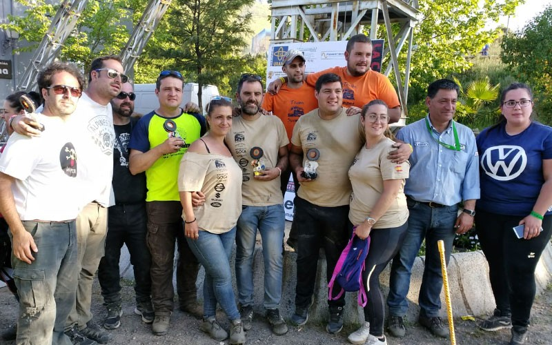 Participantes y organizadores de la prueba celebrada en La Carolina