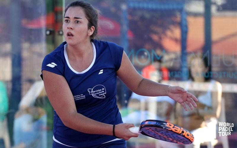 Laura Martínez durante un partido del Jaén Open 2019