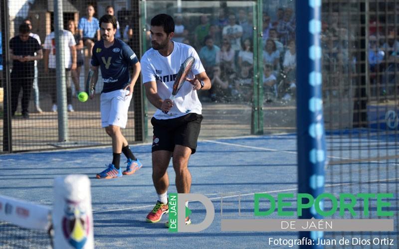 Luque y Rocha en un partido del Jaén Open 2019