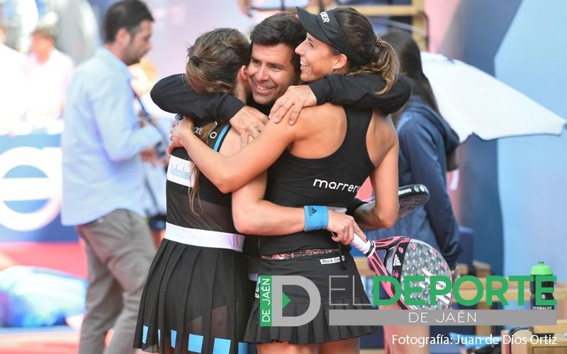 Marta Marrero y Marta Ortega celebran su pase a la final del Jaén Open 2019