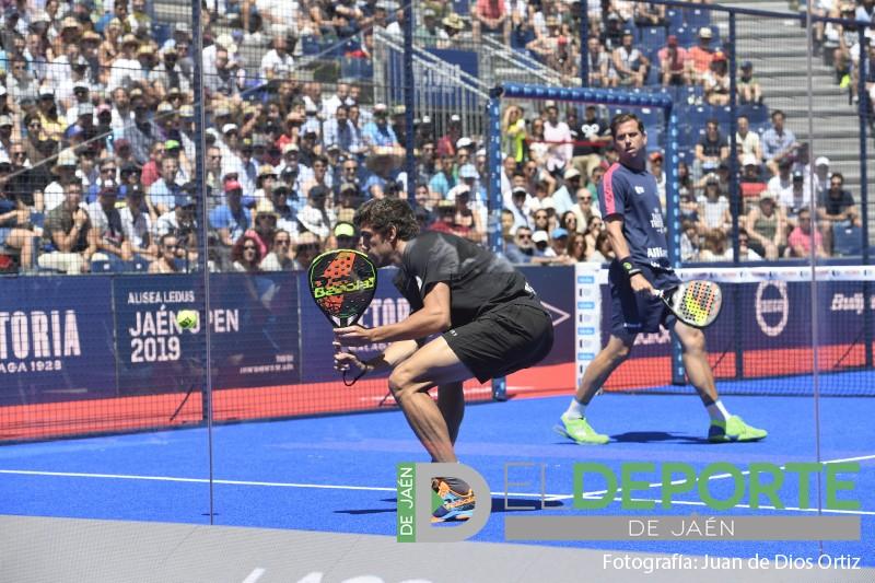 Juan Lebrón y Paquito Navarro en un partido del Jaén Open 2019