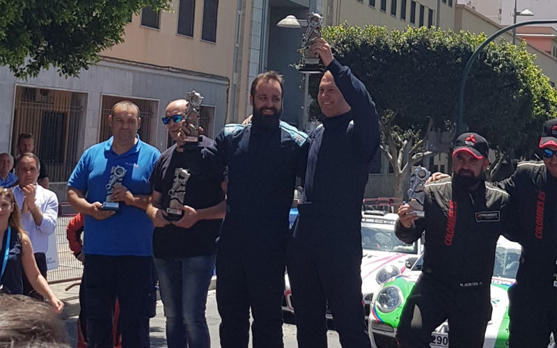 Jiennense recogen su premio en el Rally de Almería