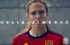 Celia Jiménez, protagonista en el spot de un sponsor de la selección