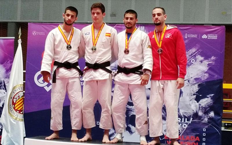 Judocas en el podio del CEU 2019