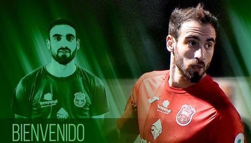 Cartel con el que el Atlético Mancha Real anuncio el fichaje de Virgilio
