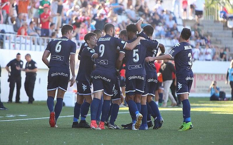 Jugadores del Algeciras celebrando un gol
