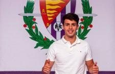 Aguado, presentado con el Real Valladolid: «Voy a pelear por hacerme un hueco»