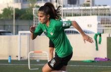 Andrea Blanco se despide del Betis Féminas tras seis temporadas. Foto: Fund. Albacete.