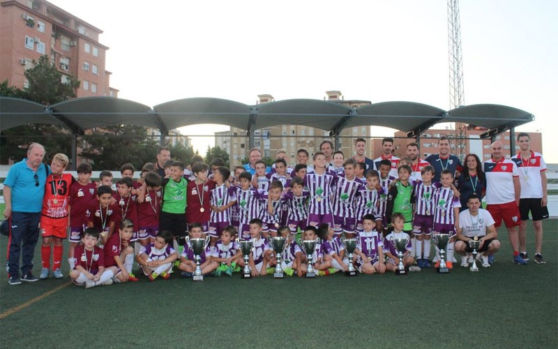Jugadores de los equipos del Atlético Jaén