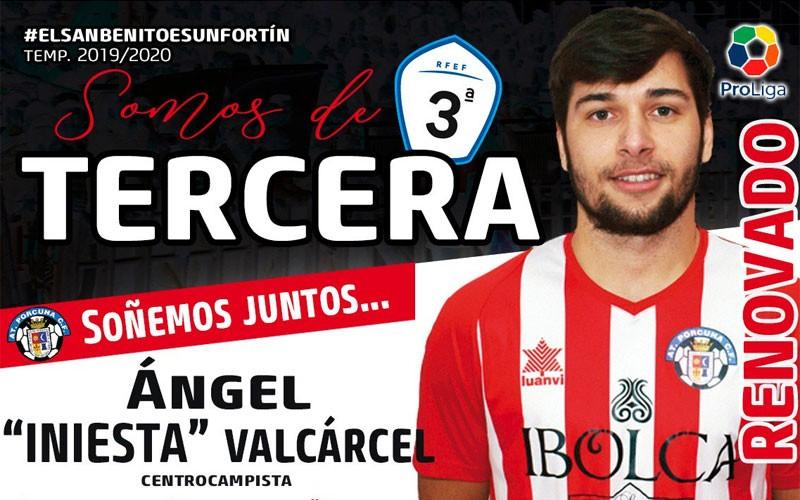 Ángel Iniesta, jugador del Atlético Porcuna