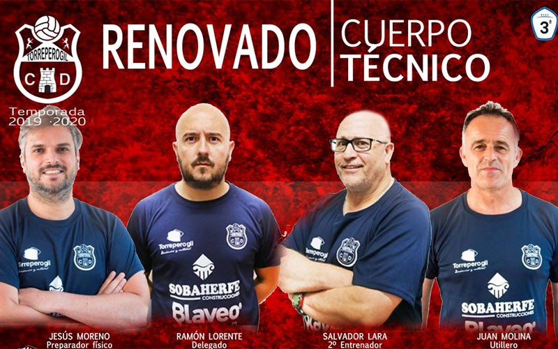 Miembros del cuerpo técnico del CD Torreperogil