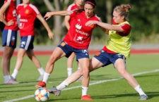 Celia debutó con España en el Mundial de Francia. Foto: SeFutbolFem.
