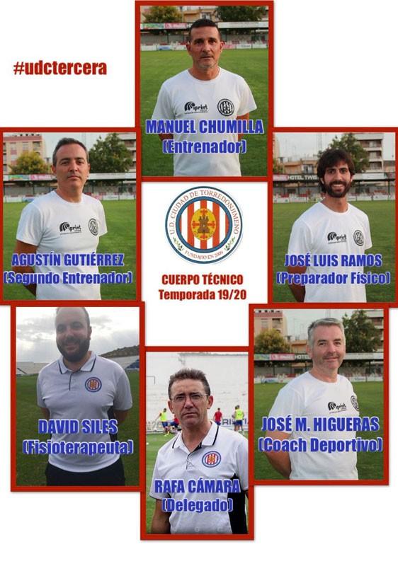 Integrantes del cuerpo técnico de la UDC Torredonjimeno