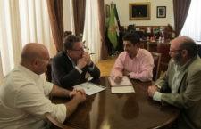 Diputación seguirá colaborando con el club jiennense. Foto: Diputación.